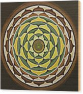 Sunflower Mandala Wood Print