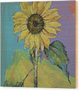 Sunflower Wood Print by Michael Creese