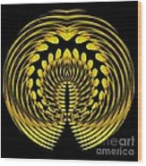 Sunflower Polar Coordinate Effect 1 Wood Print