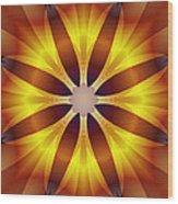 Sunflower Rose Wood Print