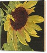 Sunflower Smile Wood Print