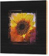 Sunflower Sunset - Art Nouveau  Wood Print