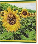 Sunflower Tapestry Wood Print