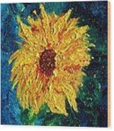 Sunflower - Tribute To Vangogh Wood Print