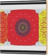Sunflower Trio - Triptych - Flowers Wood Print
