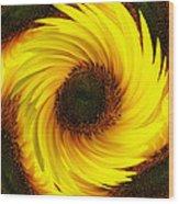 Sunflower Twirl Wood Print