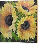 Sunflowers 3 Wood Print