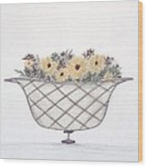 Sunflowers Wood Print by Christine Corretti