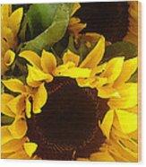 Sunflowers Tall Wood Print