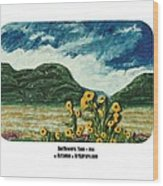 Sunflowers Taos Wood Print