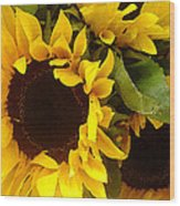 Sunflowers Wide Wood Print