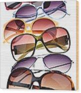 Sunglasses Wood Print