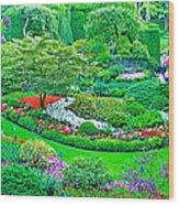 Sunken Garden In Butchart Gardens Near Victoria-british Columbia Wood Print