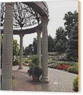 Sunken Garden Ironworks Wood Print