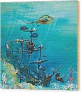 Sunken Ship Habitat Wood Print
