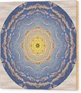 Sunlight Cloud Waves Mandala Wood Print