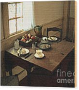 Sunlight On Dining Table Wood Print