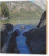 Sunlight On Lake Jenny Wood Print