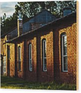 Sunlight On Old Brick Building - Ellensburg - Washington Wood Print