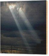 Sunlight Rays In Denver Wood Print