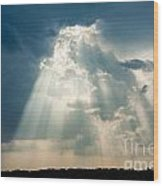 Sunlight Through The Clouds Wood Print