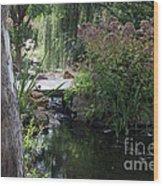 Sunlit Bridge Wood Print