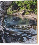 Sunlit Swirls Wood Print