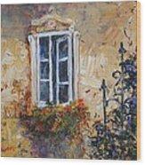 Sunlit Window Wood Print