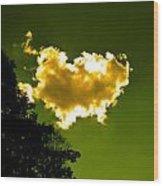 Sunlit Yellow Cloud Wood Print