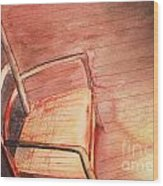 Sunny And Chair Wood Print