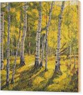 Sunny Birch Wood Print