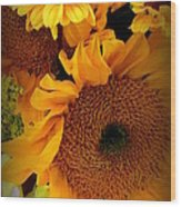 Sunny Easter Bouquet Wood Print