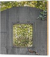 Sunny Garden Gate In Charleston Wood Print