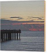 Sunny Isles Fishing Pier Sunrise Wood Print