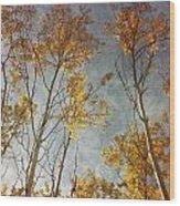 Sunny Leaves Tall Wood Print