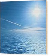 Sunny Ocean Wood Print
