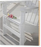 Sunny Porch Wood Print by Diane Diederich