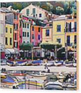 Sunny Portofino - Italy Wood Print