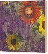 Sunny Pumpkin Wood Print