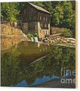Sunny Refelctions In Slippery Rock Creek Wood Print
