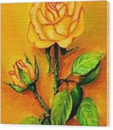 Sunny Rose Wood Print