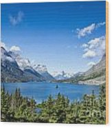 Sunny Saint Mary Lake Wood Print