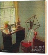 Sunny Sewing Room Wood Print