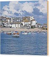 Sunny St Ives Wood Print