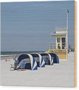 Sunnyday At Clearwater Beach Wood Print