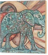 Sunphant Sun Elephant Wood Print by Tamara Phillips