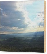 Sunray Valley Wood Print