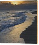 Sunrays Over The Sea Wood Print