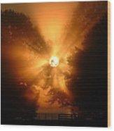 Sunrays Sunrise On Lake Oconee Wood Print