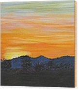 Sunrise - A New Day Wood Print